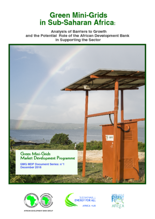 Publication - Green Mini Grids Series: (1) Analysis of Barriers to Growth and potential role of AfDB