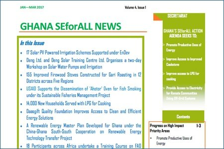 Ghana SEforALL Newsletter: Volume 5, Issue 2